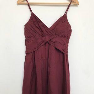 theory dress burgundy